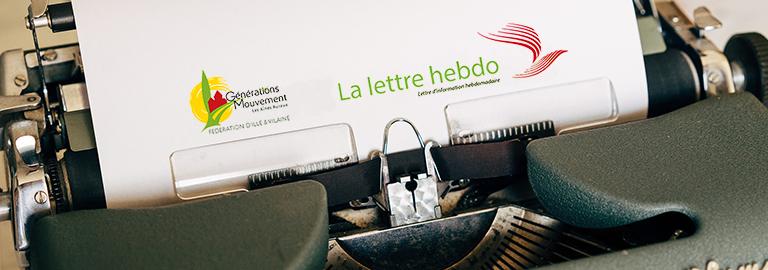 Read more about the article C'est la reprise pour «La lettre hebdo» !